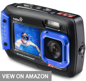 Ivation 20MP Underwater Shockproof Digital Camera