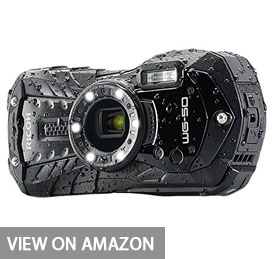 "Ricoh WG-50 16MP Waterproof Still/Video Camera Digital with 2.7"" LCD, (Black)"