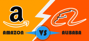 Alibaba vs amazon infographic